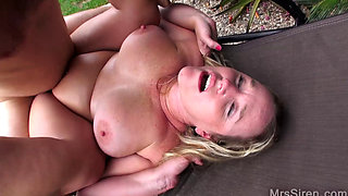 Wife Fucks Her Boytoy by the Pool