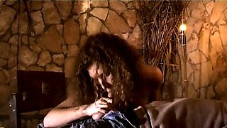 Helpless beauty Slave spanked in antique dungeon