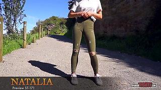 Green jeans cameltoe
