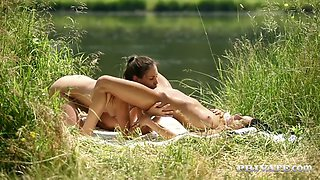 czech nymphs jenny appach and lexi dona enjoy sex in nature