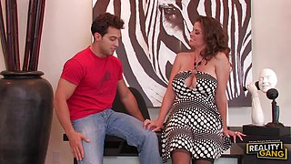 Redhead Cougar June Summers on the Prowl for Fresh Cock
