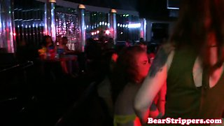 Beautiful babe pussy fucked by bear stripper