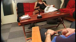 Sexy French blonde MILF Carole gets stuffed in all her