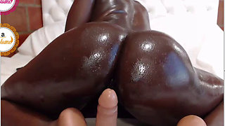 Hanai Loliitabrown riding her dildo oiled on chaturbate - 2017.09.10 Part 1