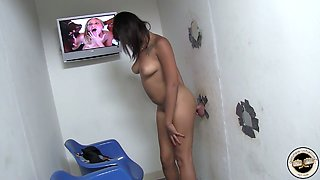Hot glory hole video featuring nasty ebony chick Lila Jordan