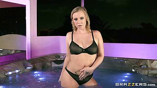 Bailey brooke's tittysurprise in a tub!