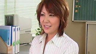 Best Japanese model in Amazing Office JAV scene