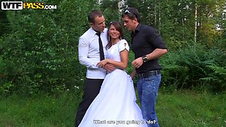Bride Madelyn being fucked by gang of guys