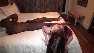 Black Bull Banged wife and Creampie Hubby Filmed