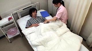 Lustful nurse likes teasing dick