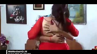 indian bhabhi romance & fucked in red bra saree