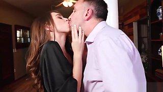 Riley Reid opens her virgin tiny asshole for the neighbor
