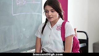 Coed Pressured To Strip and Fuck Teacher