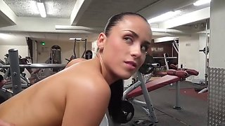 Jade laroche gets fucked in a gym