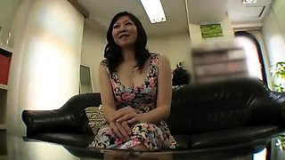 Lovely Japanese wife with small tits has a passion for cock