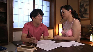 Asian mom fucked by her horny son