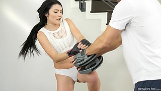 Smoking hot Adria Rae gets talked into banging with a neighbor