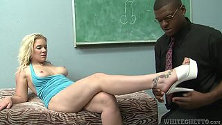 Fleshy Blonde Is Crazy For A Black Monster Cock To Deeply Fuck Her Pink Pussy