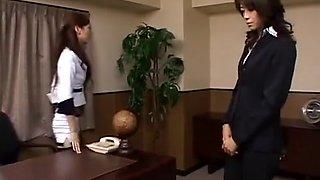 Beautiful President & Secretary. Ryo Takamiya & Maki Houjo. Ryo is the boss