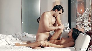 Stunning babe Sofi Ryan is making love with her boyfriend