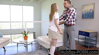 anya olsen daughter caught and punished by stepfather