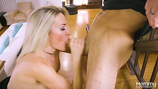 Skilled sucking head Blake Morgan gives the best ever blowjob