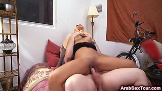 crazy hot arab babe gets her pussy fucked and her clit teased