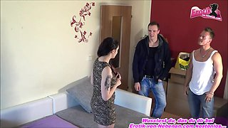 german homemade threesome with amateur teen