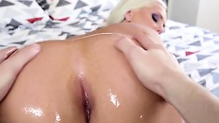 Hot Chick Alena Croft Gets Her Anus Fingered