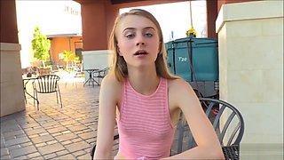 Teen Charlotte Interview & Public Flashing