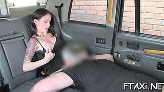 fake taxi inspires babe for sex
