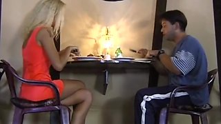 Private Classic MONY in restaurant gangbang,anal and facial cumshot on bus
