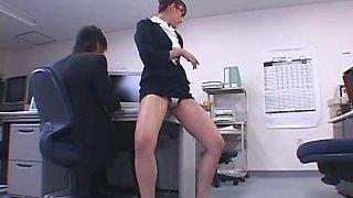 Beautiful Leg Office Lady