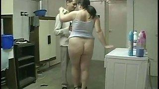 MMF Threesome with chubby wife and her bi husband
