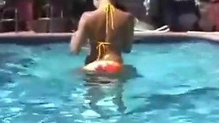 Awesome Amateur Pool Party ...F70
