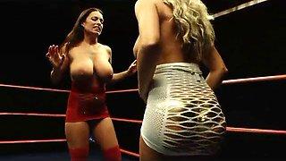 Catfight, lesbian wrestling