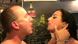 Cum kissing after big cum in mouth after rimming and footjob