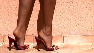 Beach high heels