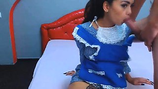 Sexy Latina Maid Gets Fuck By Her Boss