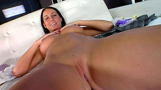 Brunette With Bit Natural Tits Is Fucking Like A Real Pro Hooker