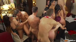 filthy orgy with the sluttiest latinas and spanish putas on earth
