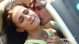 Nicole waits for the bus and gets picked up by a horny dude