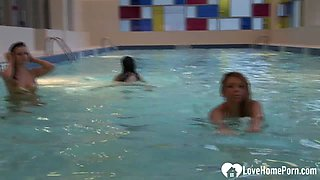 The swimming pool is the best for flashing