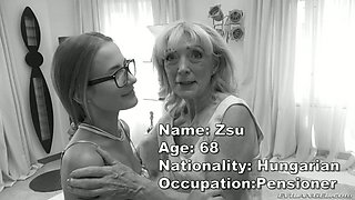 Lithuanian chick Swabery and old Hungarian hooker are fucked by one horny dude