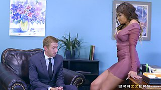Office kind of penetration with Cassidy and Banks and her sexy body