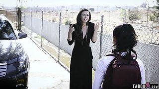 Latina teen schoolgirl captured and fucked by strangers