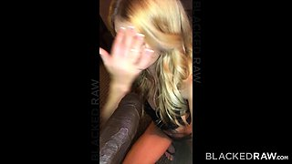 BLACKEDRAW Monster black stud dominates blonde hipster