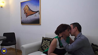 Taboo love with natural mature moms