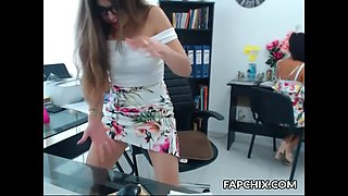warm office nerdy squirting everywhere