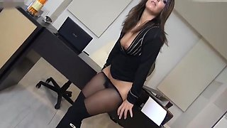 Sexy secretary fucked in pantyhose